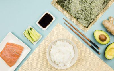 Receita de arroz de sushi em casa em 10 passos